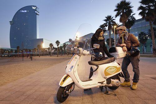 lloguer moto Vesping Barcelona