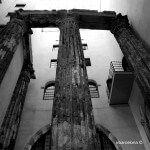 Columnes Temple August blanc i negre