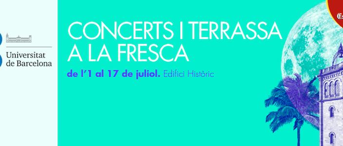 Els Vespres de la UB 2014, concerts i terrassa a la fresca
