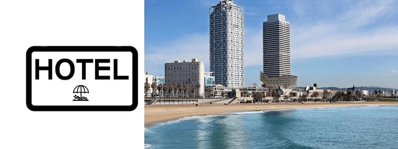 hotels i apartaments platja Barcelona