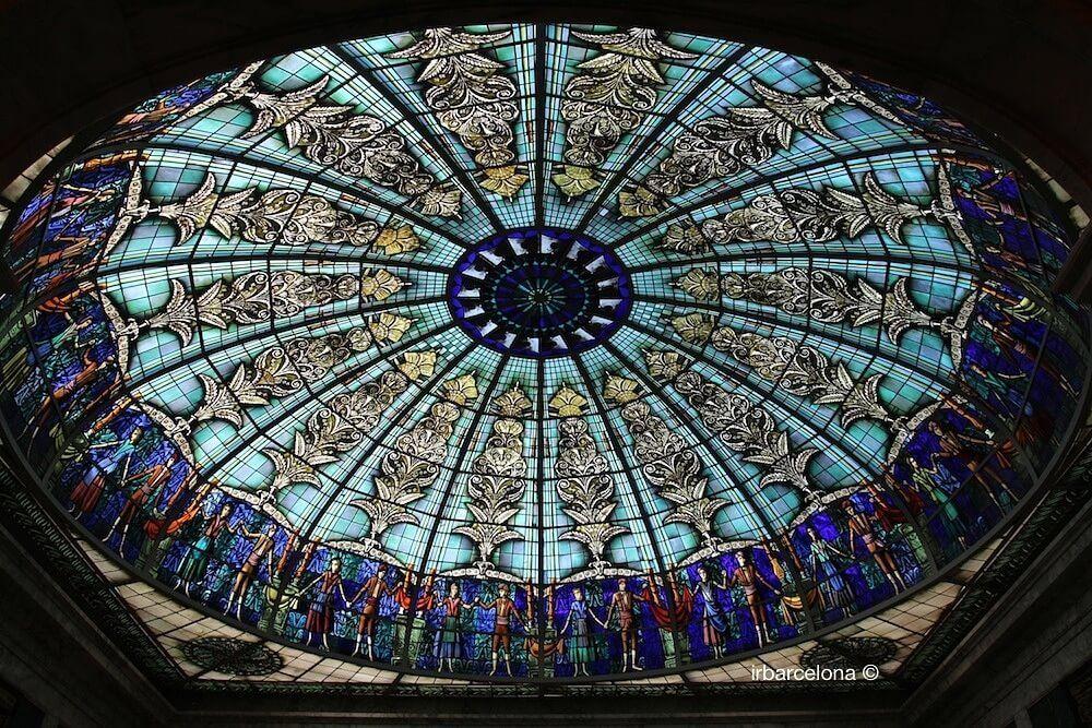 cúpula de vidre Palauet Albéniz