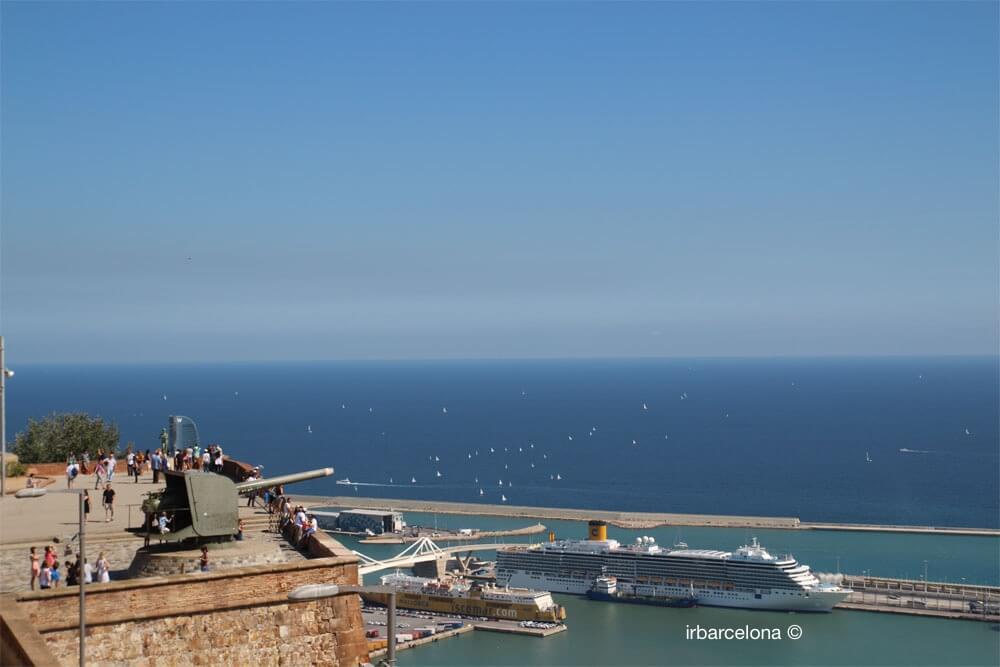 vistes del mar des del castell de Montjuïc