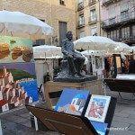 art a la Plaça de Sant Josep Oriol