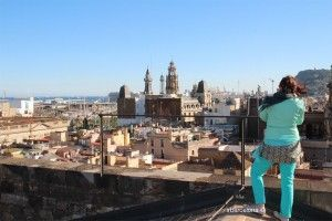 vistes des de les terrasses de Santa Maria del Mar