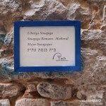 placa entrada Sinagoga Major