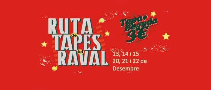 4a Ruta de Tapes del Raval, tapa + beguda per 3€