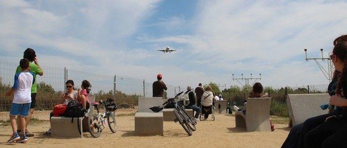 Fotografiant avions al Mirador del Prat de Llobregat