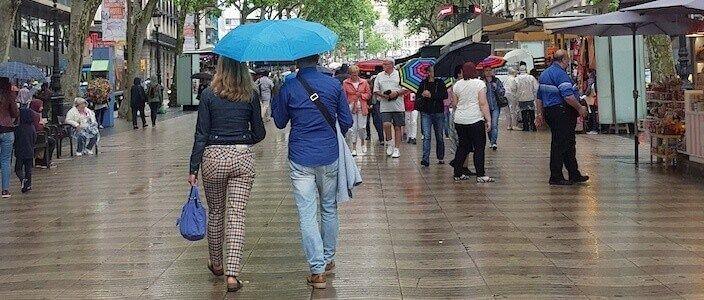 Barcelona quan plou