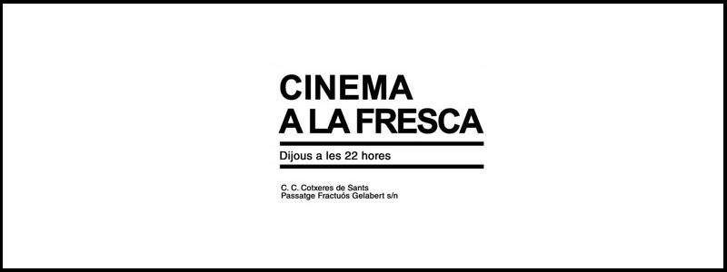 Cine Verano Cotxeres Sants 2018