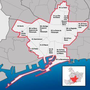 mapa tendes obertes Barcelona