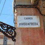 placa Carrer d'Aiguafreda