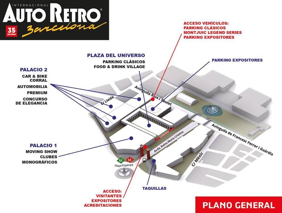 plànol Saló Auto Retro Barcelona